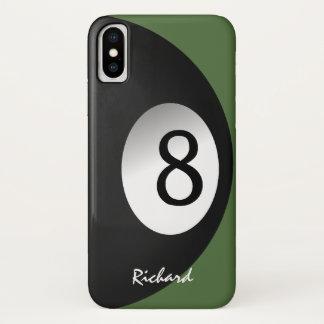 Funda Para iPhone X Nombre del juego de la piscina de ocho bolas