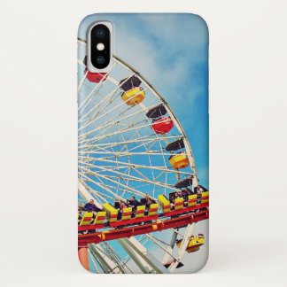 Funda Para iPhone X Noria del carnaval de la diversión y foto de la