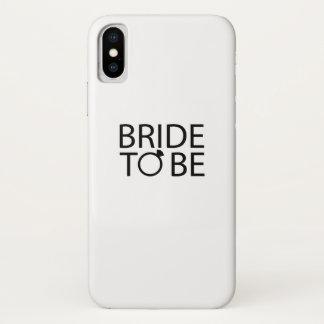 Funda Para iPhone X Novia a ser fiesta del bachelorette de la novia de