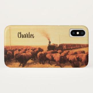 Funda Para iPhone X Oeste americano del vintage, soportado por el