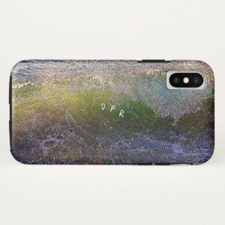Funda Para iPhone X Ola oceánica abstracta