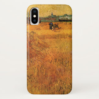 Funda Para iPhone X Opinión de Van Gogh de los campos de trigo en