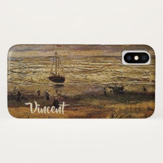 Funda Para iPhone X Opinión del mar en Scheveningen, bella arte de Van