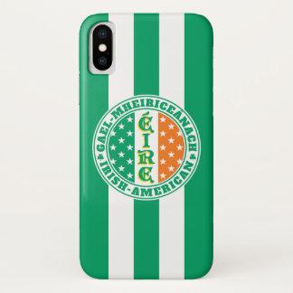 Funda Para iPhone X Orgullo americano irlandés - bandera de Éire con