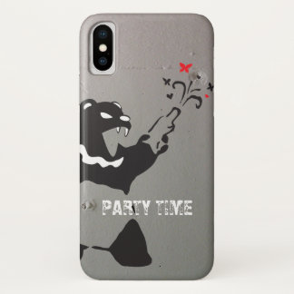 Funda Para iPhone X Oso del fiesta