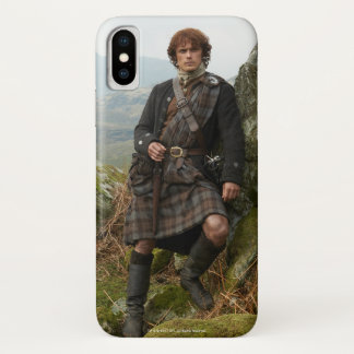 Funda Para iPhone X Outlander el | Jamie Fraser - inclinándose en roca