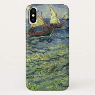 Funda Para iPhone X Paisaje marino en Saintes Maries de Vincent van