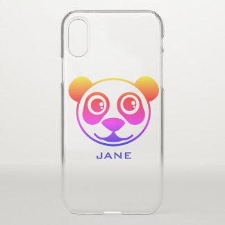 Funda Para iPhone X Panda del arco iris personalizada