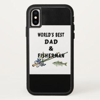 Funda Para iPhone X Papá del padre de la pesca el mejor