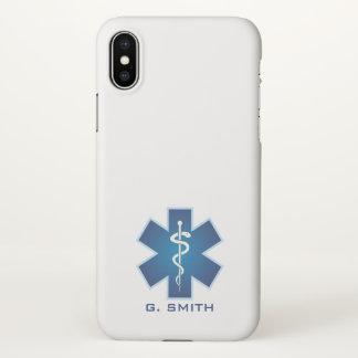 Funda Para iPhone X Para los doctores y las enfermeras. Caduceo médico