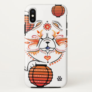 Funda Para iPhone X Perro chino de BINDI MI TANG - caso de IPHONE X