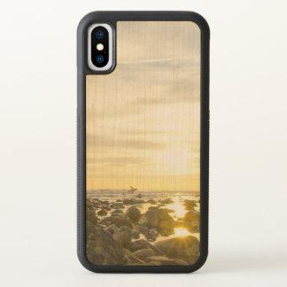 Funda Para iPhone X Persona que practica surf solitaria