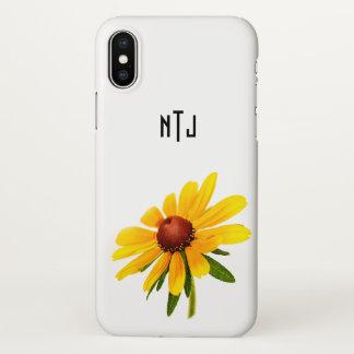 Funda Para iPhone X Personalice: Fotografía floral Negro-Observada de