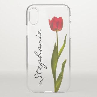 Funda Para iPhone X Personalice:  Una fotografía floral del tulipán