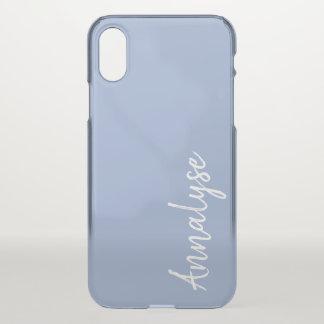 Funda Para iPhone X Personalizado azul claro del color sólido del
