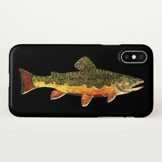 Funda Para iPhone X Pesca con mosca para la trucha de arroyo hermosa