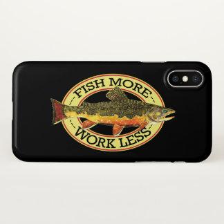 Funda Para iPhone X Pescador chistoso de la pesca de la trucha
