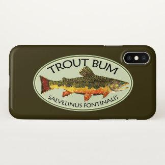 Funda Para iPhone X Pescador chistoso del vago de la trucha