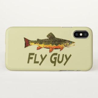 Funda Para iPhone X Pescador de la trucha de arroyo del individuo de