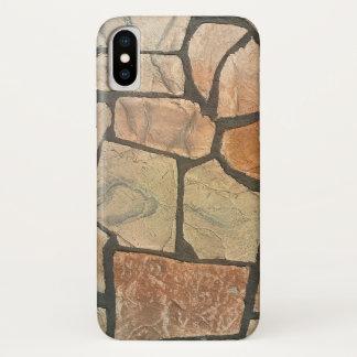 Funda Para iPhone X Piedra decorativa que pavimenta mirada