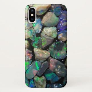 Funda Para iPhone X Piedras preciosas coloridas de los ópalos (falsas)