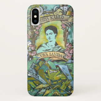 Funda Para iPhone X Pintada de Frida Kahlo