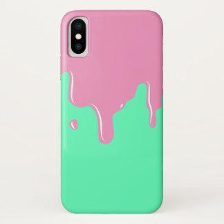 Funda Para iPhone X Pique y acuñe el caso del iPhone X del goteo del
