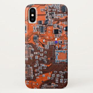 Funda Para iPhone X Placa de circuito del friki del ordenador -