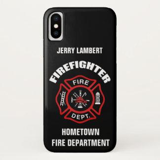 Funda Para iPhone X Plantilla conocida del bombero