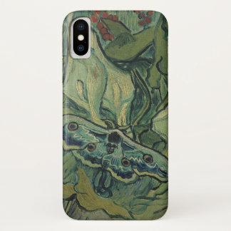 Funda Para iPhone X Polilla verde del pavo real de Van Gogh