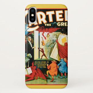 Funda Para iPhone X Poster mágico del vintage, mago Carretero el