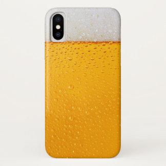 Funda Para iPhone X Primer del vidrio de cerveza divertido