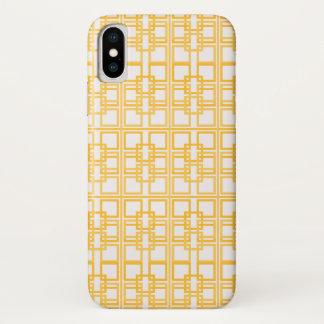 Funda Para iPhone X Princesa real Pattern Design del oro blanco