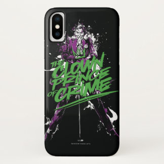 Funda Para iPhone X Príncipe Of Crime Ink Art del payaso del comodín