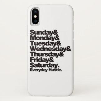 Funda Para iPhone X Prisa diaria de SMTWTFS