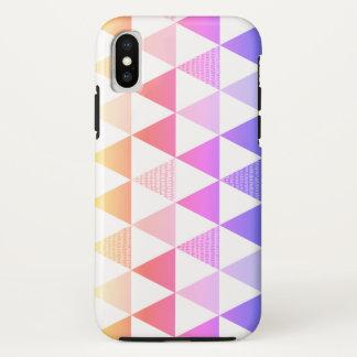 Funda Para iPhone X Prisma tribal del arco iris de la flecha