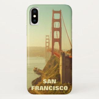 Funda Para iPhone X Puente Golden Gate del vintage de San Francisco