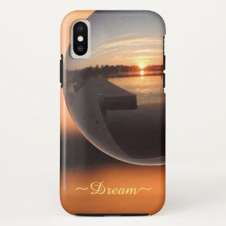 Funda Para iPhone X Puesta del sol sobre la bola de cristal del agua -