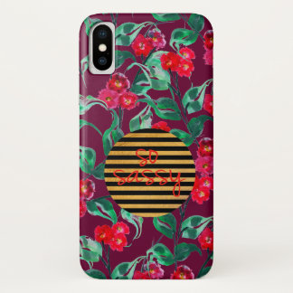 Funda Para iPhone X Púrpura oscura del modelo tan descarado