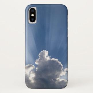 Funda Para iPhone X Raya crepuscular o de dios de los rayos más allá