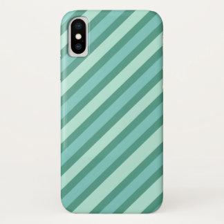 Funda Para iPhone X Rayas azules multi