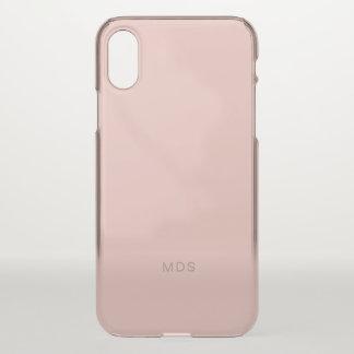 Funda Para iPhone X Rosa color de rosa milenario apacible