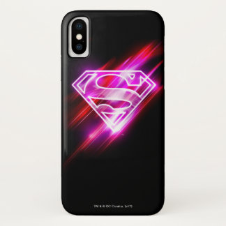 Funda Para iPhone X Rosa de Supergirl