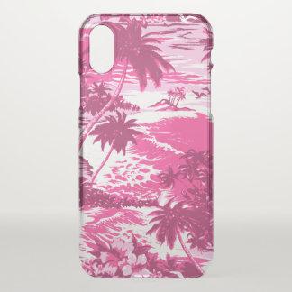 Funda Para iPhone X Rosa escénico de la isla hawaiana de la bahía de