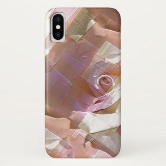 Funda Para iPhone X Rosas abstractos frescos