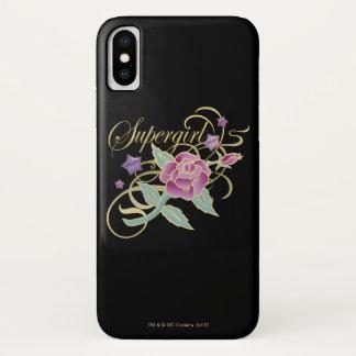 Funda Para iPhone X Rosas de lujo de Supergirl