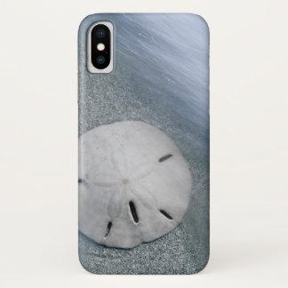 Funda Para iPhone X Sanddollar en la isla de la playa el   Sanibel, la