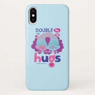 Funda Para iPhone X Satén y felpilla - los abrazos dobles de los