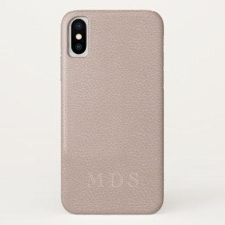Funda Para iPhone X Se ruboriza el efecto color de rosa rosado de la