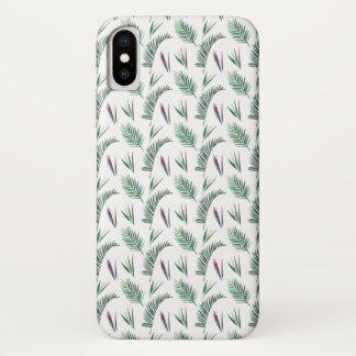 Funda Para iPhone X Selva del helecho y de las frondas temática